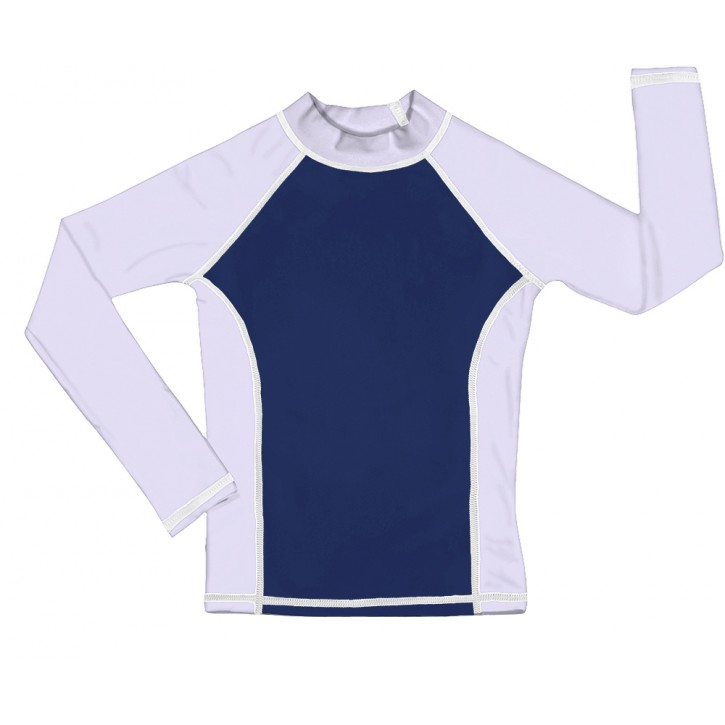 Navy / White UV Long Sleeve Swim Shirt